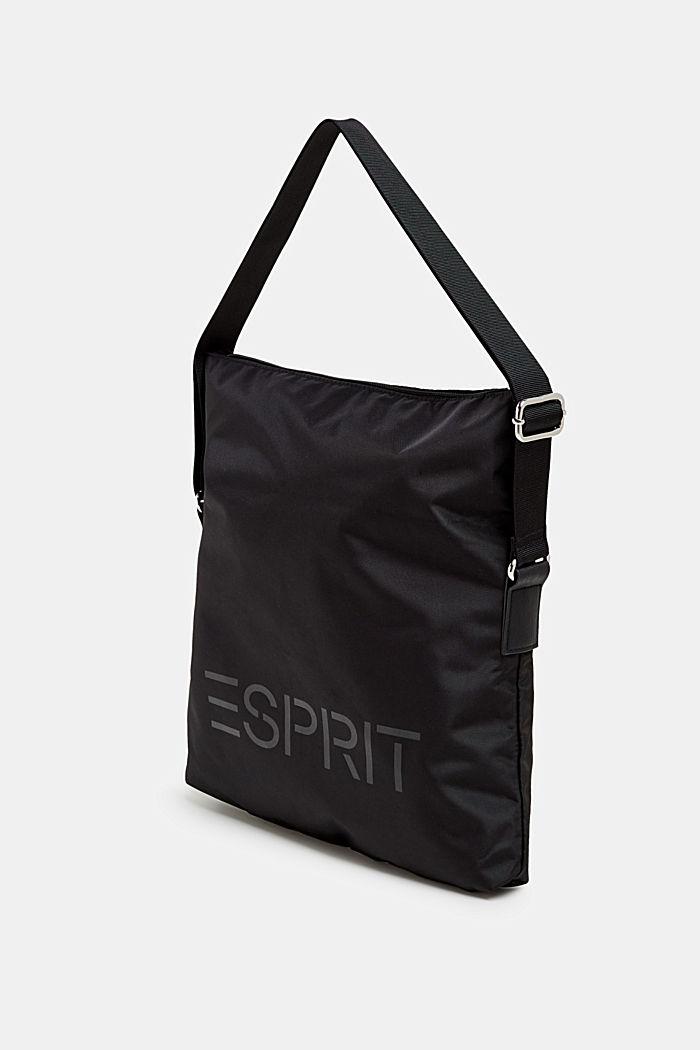 Nylonová kabelka s logem a variabilní klopou, BLACK, detail image number 1