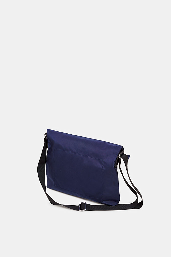 Nylon bag with a logo and adjustable clasp, NAVY, detail image number 3