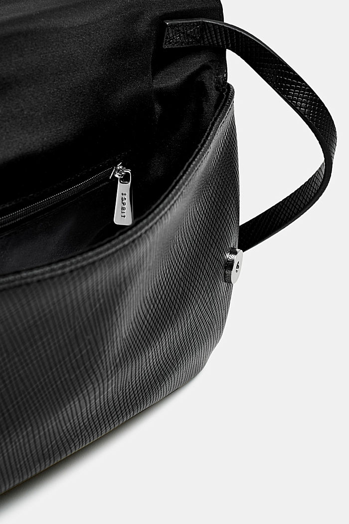 Pochette in Leder-Optik, BLACK, detail image number 3