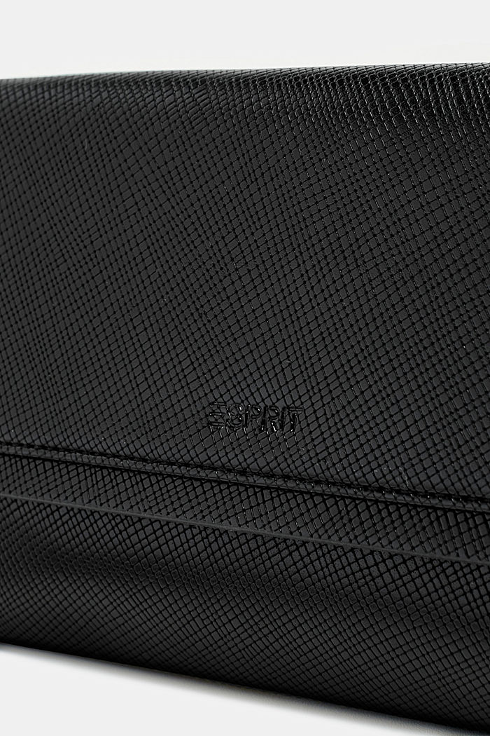 Pochette in Leder-Optik, BLACK, detail image number 2