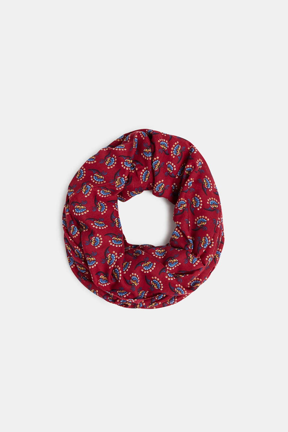 Snood with print, recycled, PLUM RED, detail image number 0