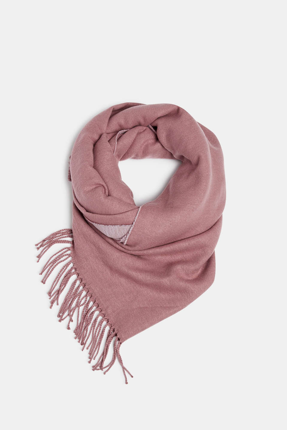 Esprit - Oversized scarf with fringing