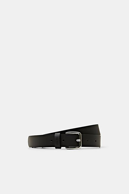 Cinturón de piel estrecho d7f590368227