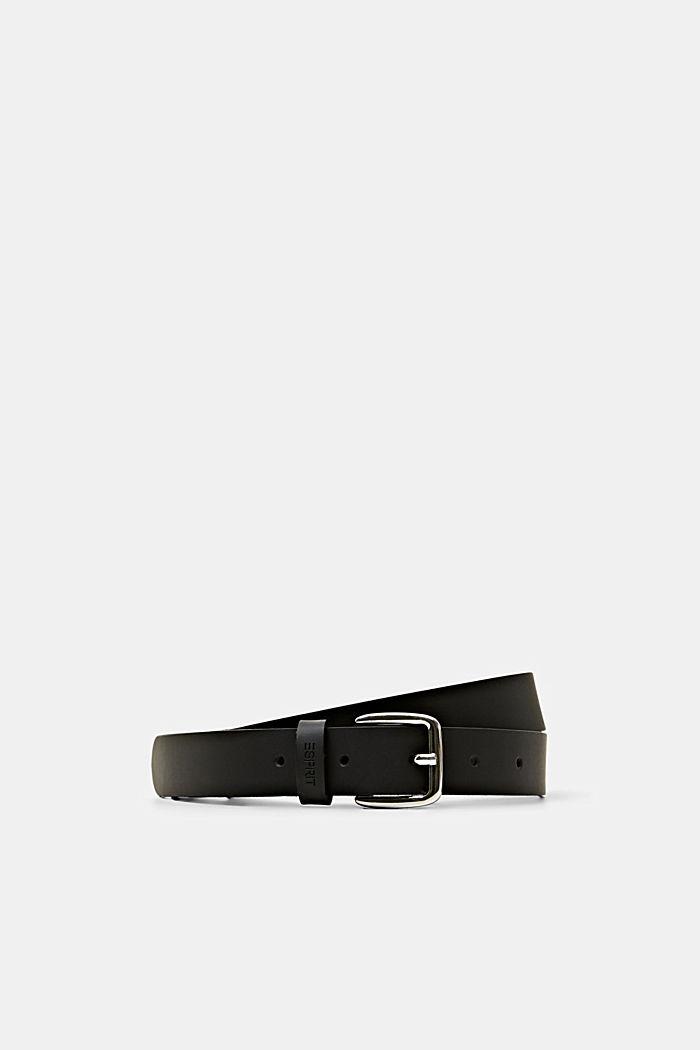 Narrow leather belt, BLACK, detail image number 0
