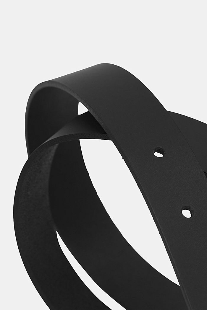 Schmaler Gürtel aus Leder, BLACK, detail image number 1
