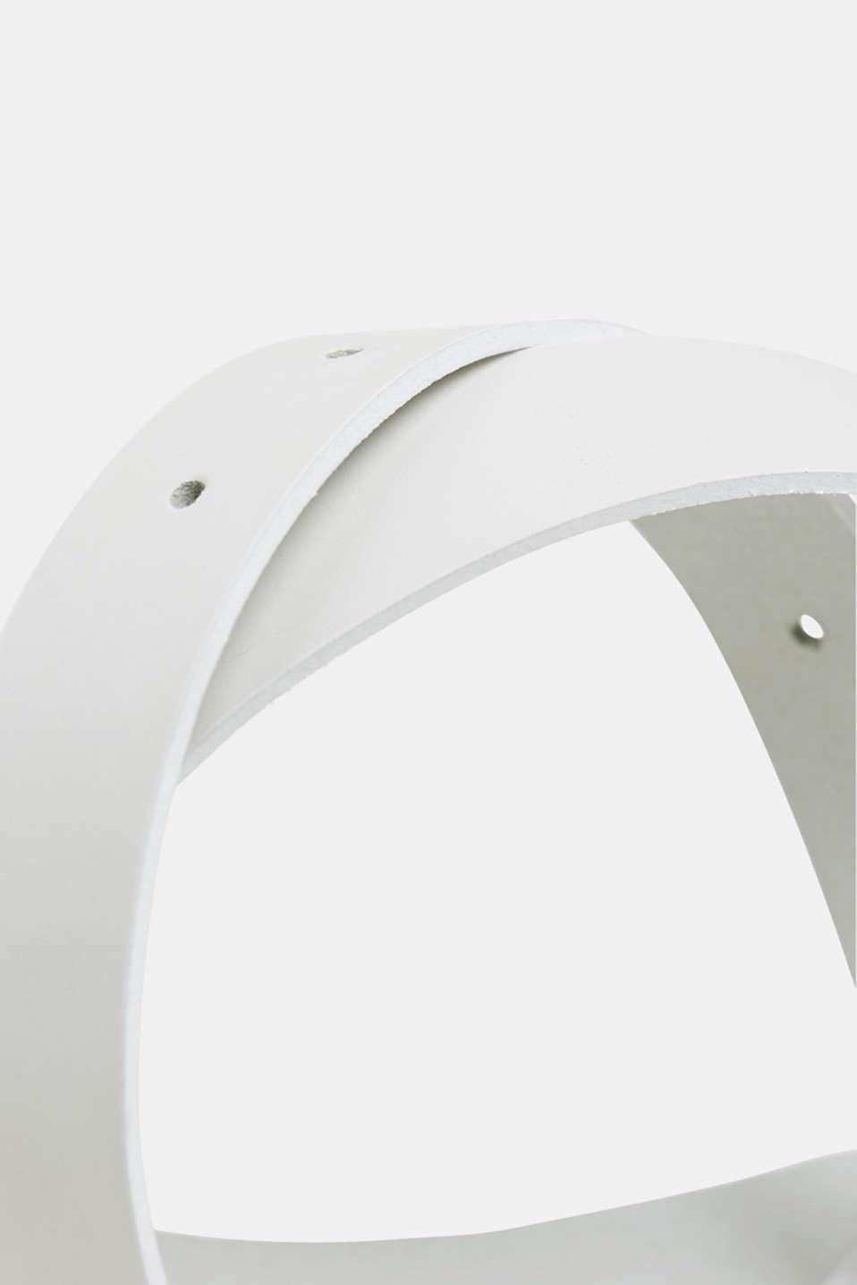 Narrow leather belt, WHITE, detail image number 1