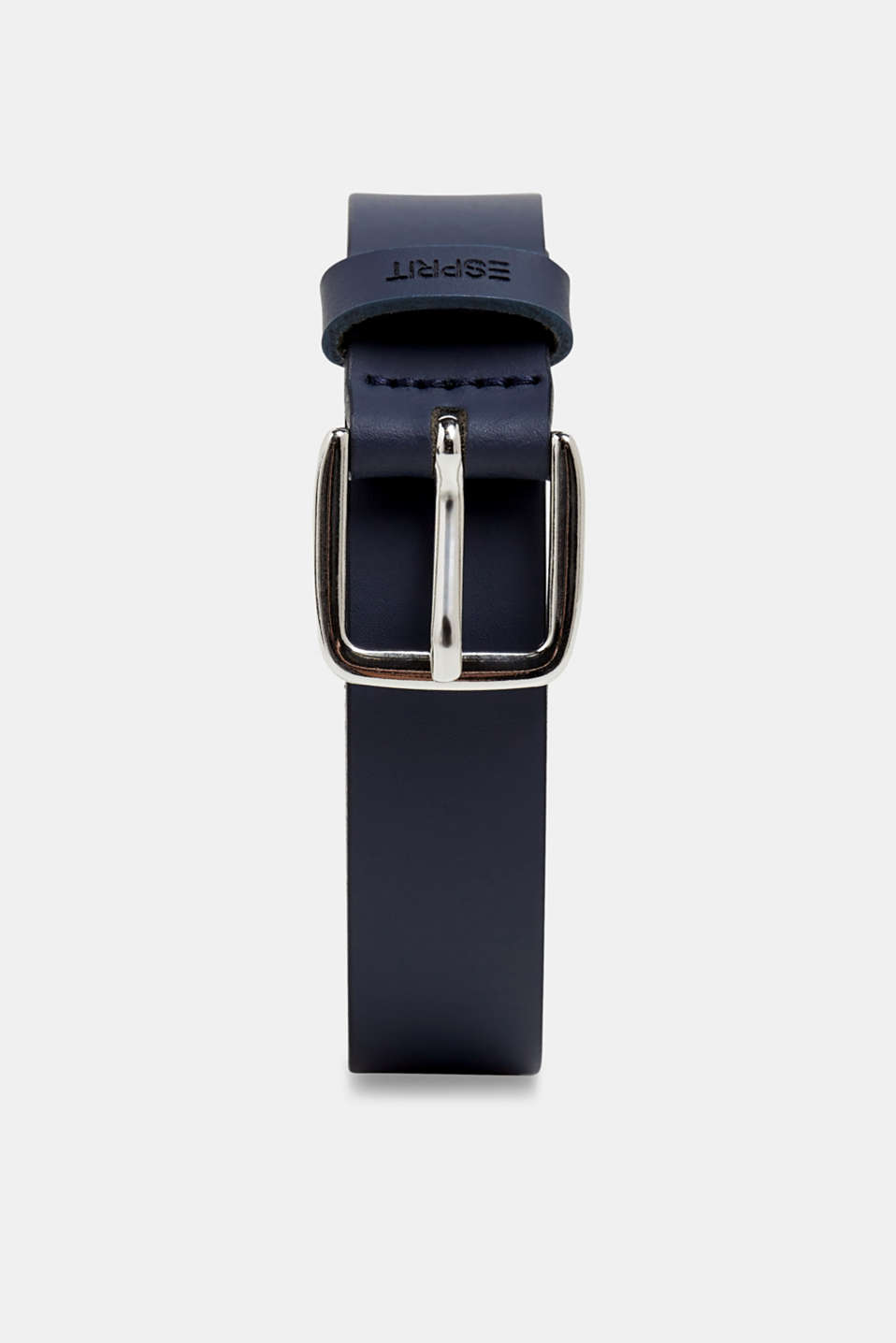 Narrow leather belt, NAVY, detail image number 0
