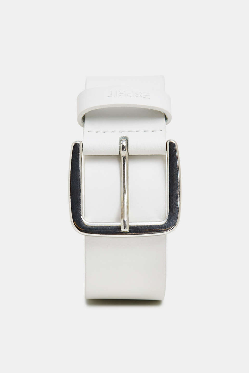 Leather belt, WHITE, detail image number 0