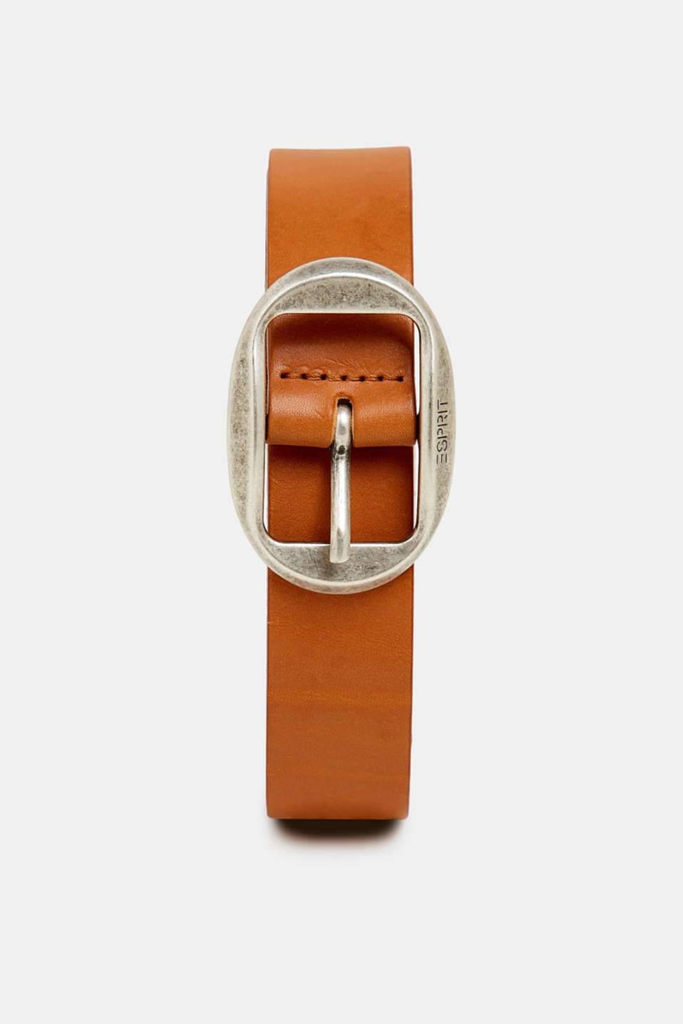 Esprit - Leather belt with a vintage buckle