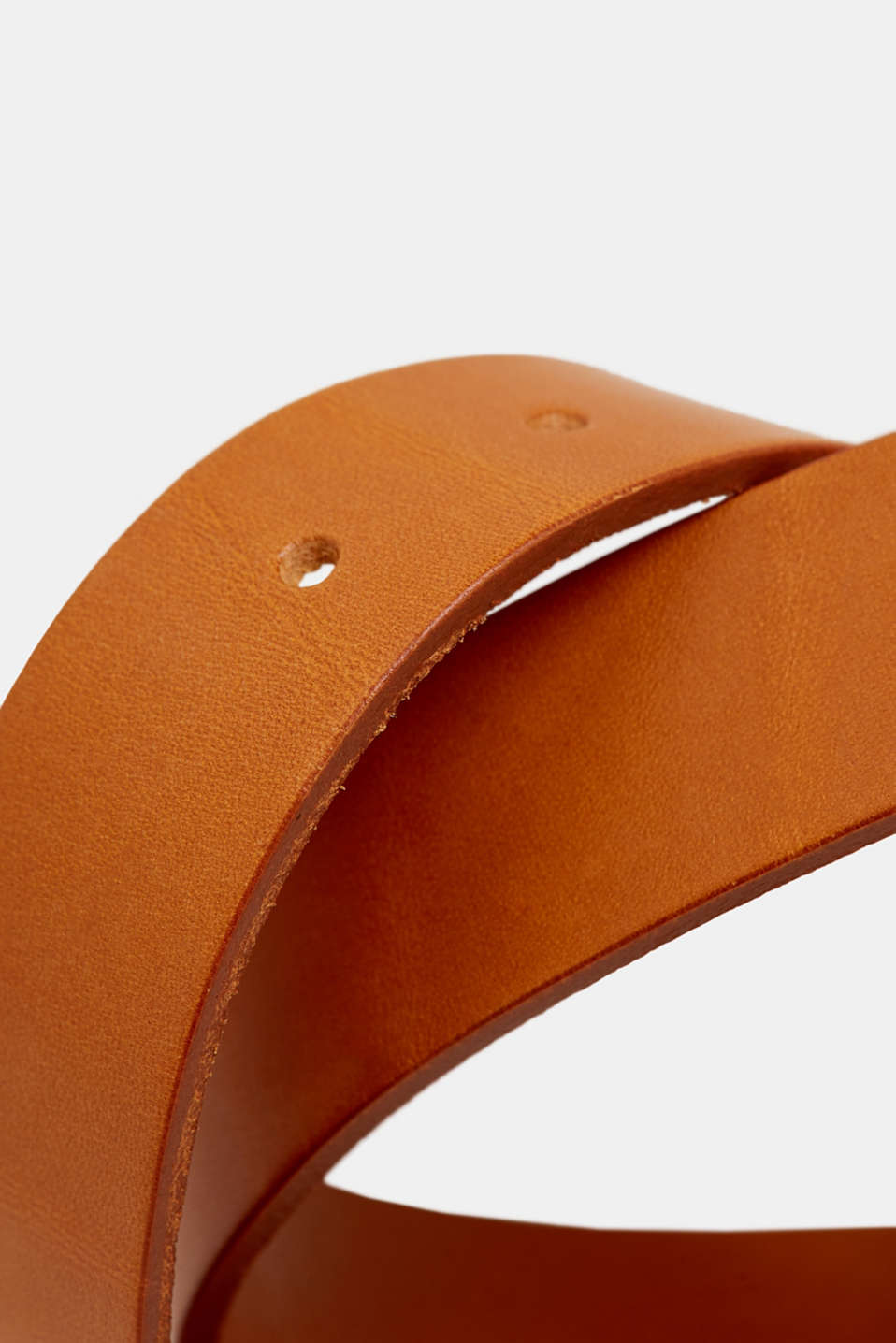 Leather belt with a vintage buckle, RUST BROWN, detail image number 1