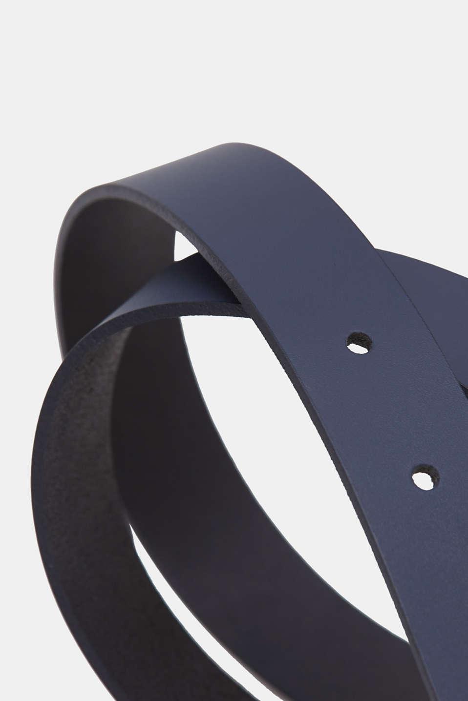 Leather belt, NAVY, detail image number 1