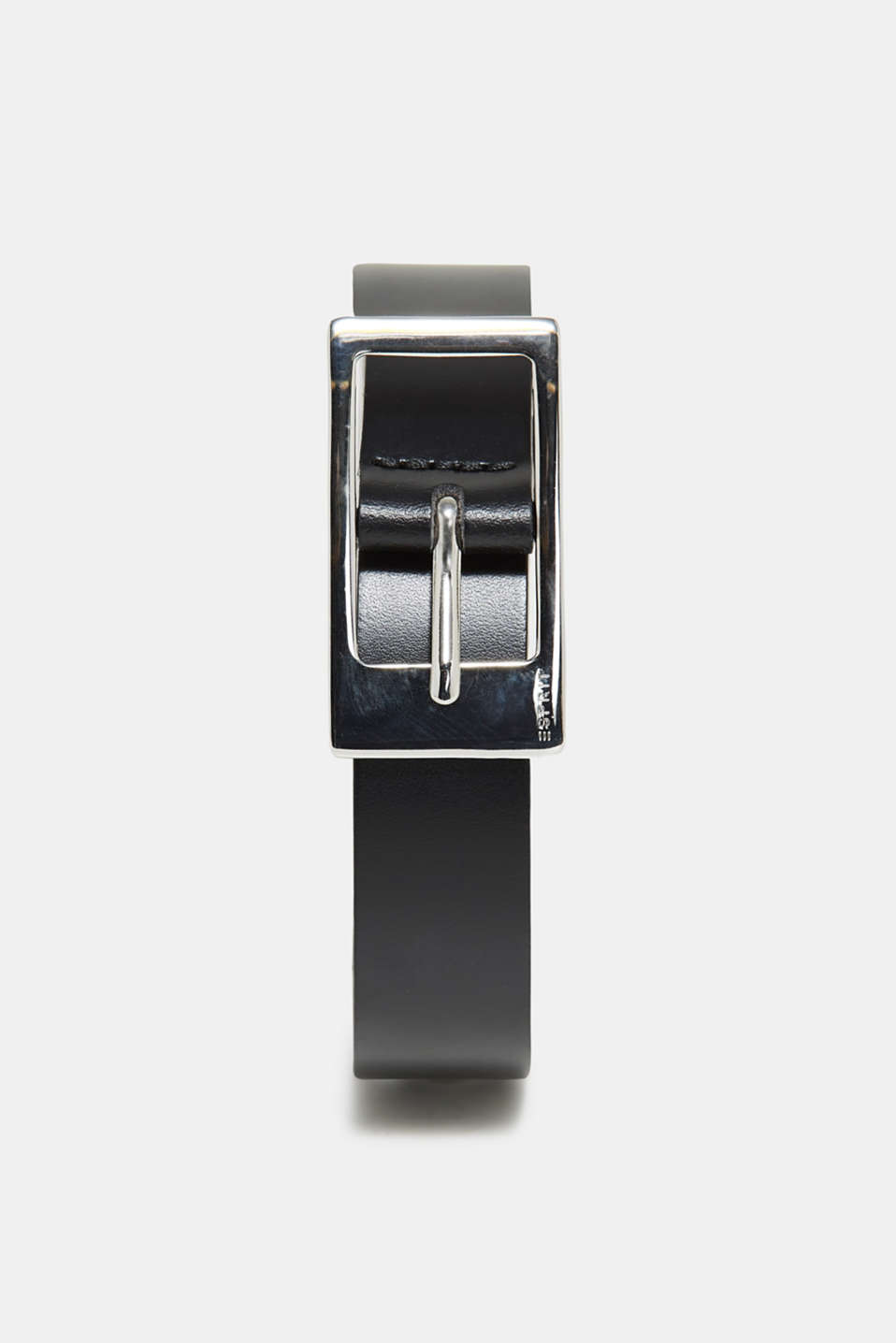 Esprit - Cowhide belt with a shiny buckle