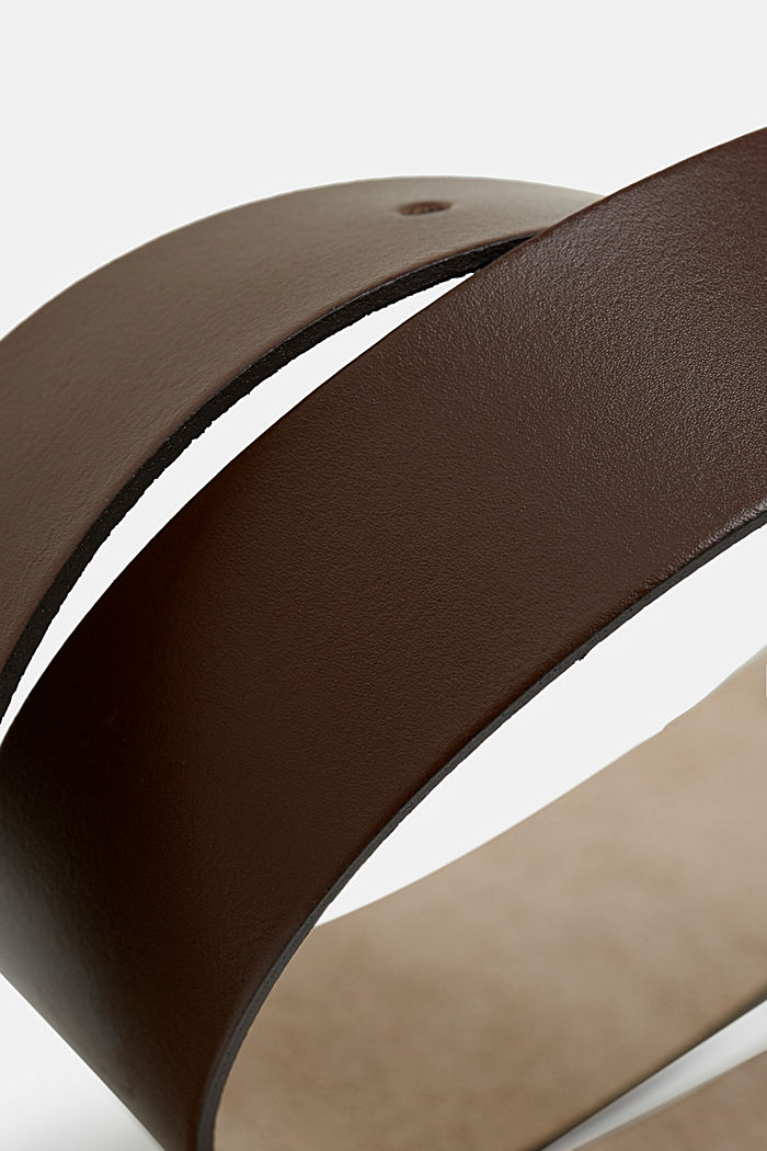 Cintura larga in pelle, BROWN, detail image number 1