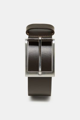 Basic smooth leather belt, BROWN, detail