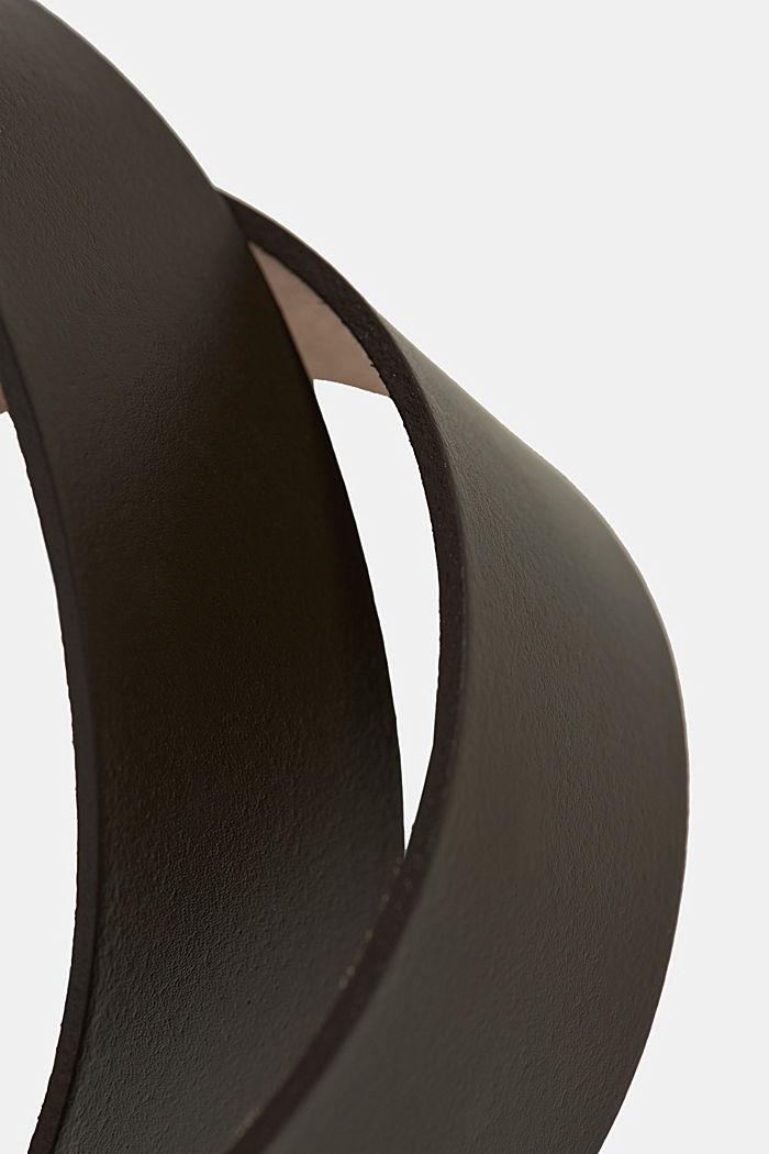 Ceinture basique en cuir lisse
