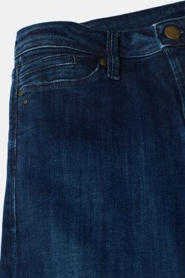 Stretch jeans containing organic cotton, BLUE DARK WASH, detail