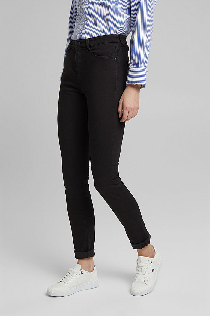 Stretch jeans containing organic cotton, BLACK, detail image number 0