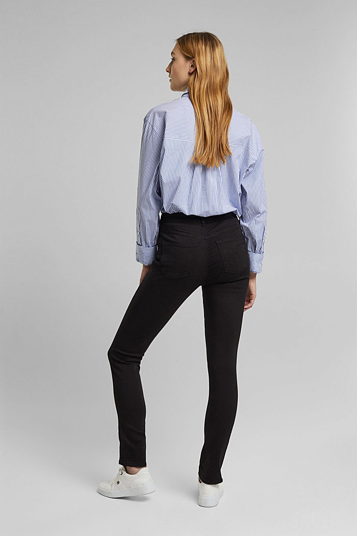 Stretch-Jeans mit Organic Cotton, BLACK, detail image number 3