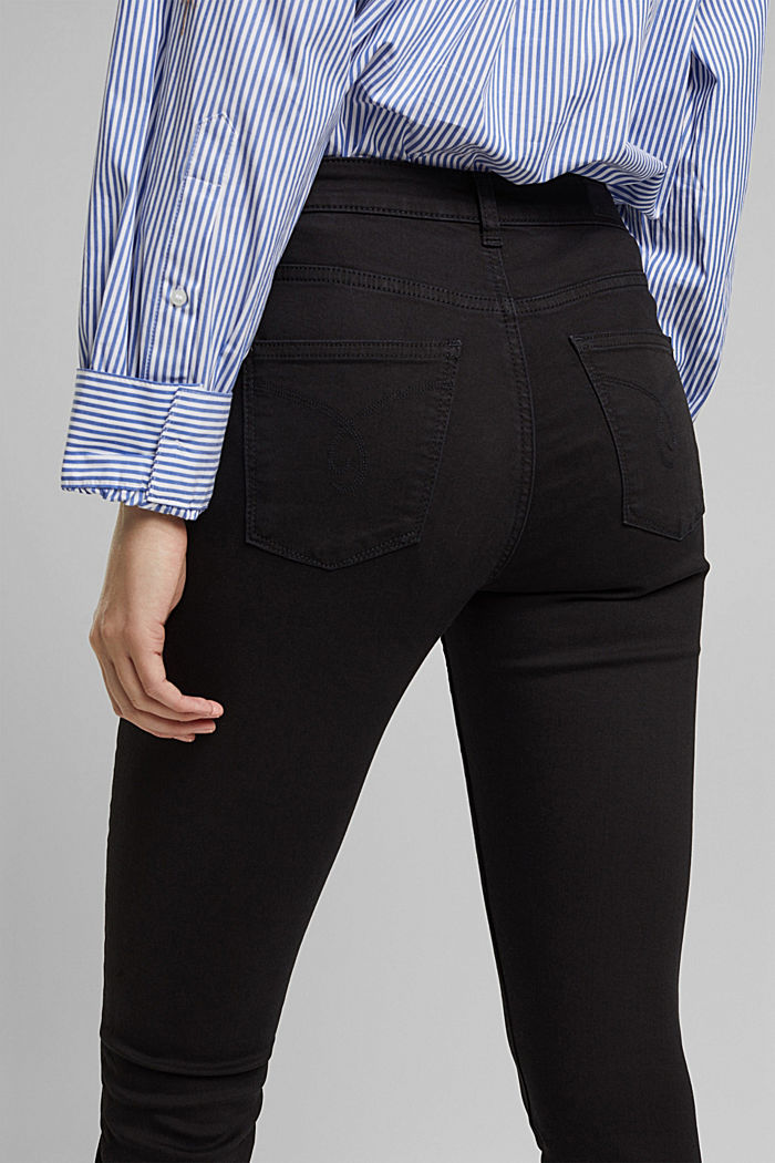 Stretch-Jeans mit Organic Cotton, BLACK, detail image number 2