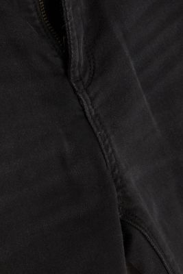 Black denim jeans with organic cotton, BLACK DARK WASH, detail