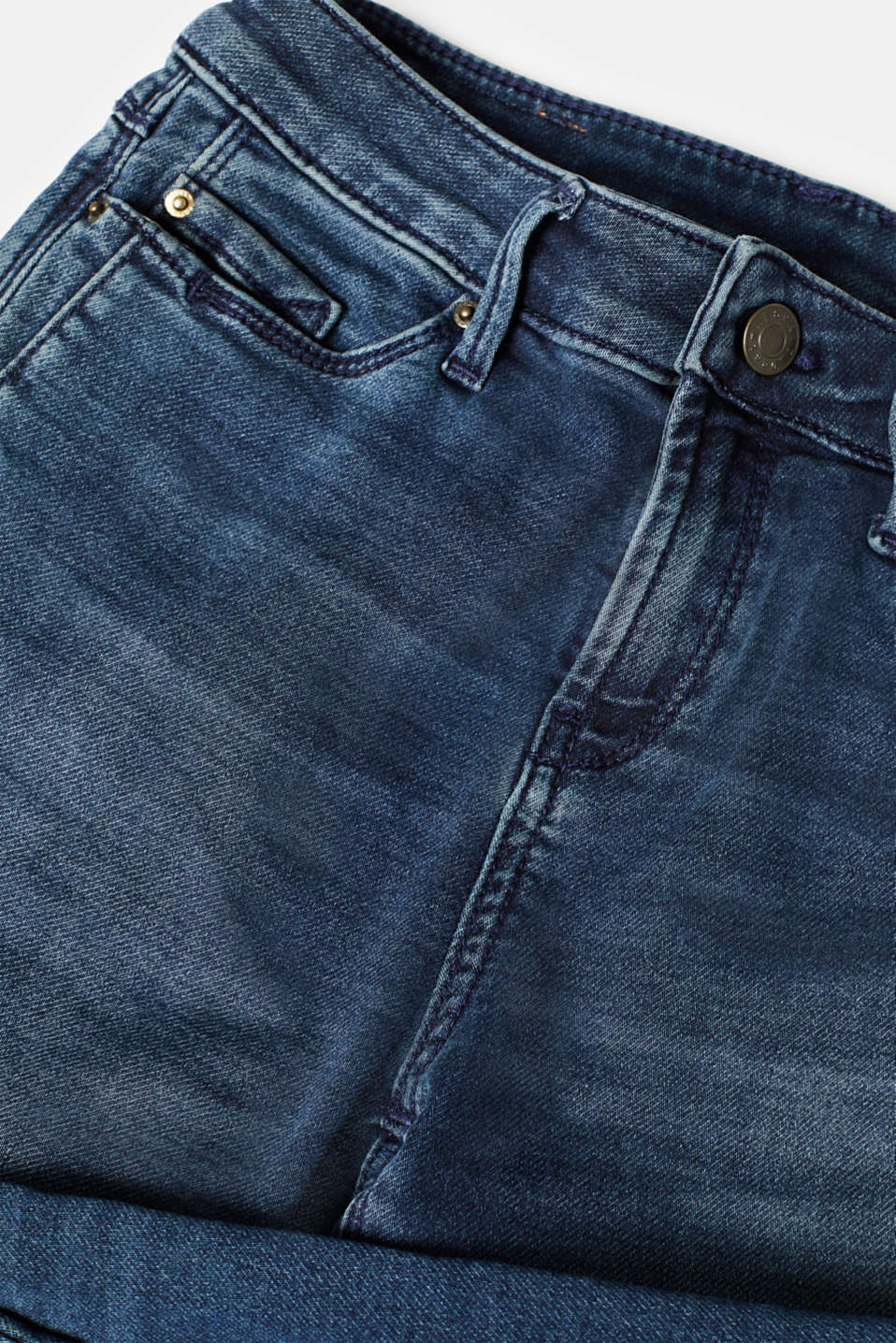 Tracksuit bottom jeans with super stretch, BLUE DARK WASH, detail image number 4