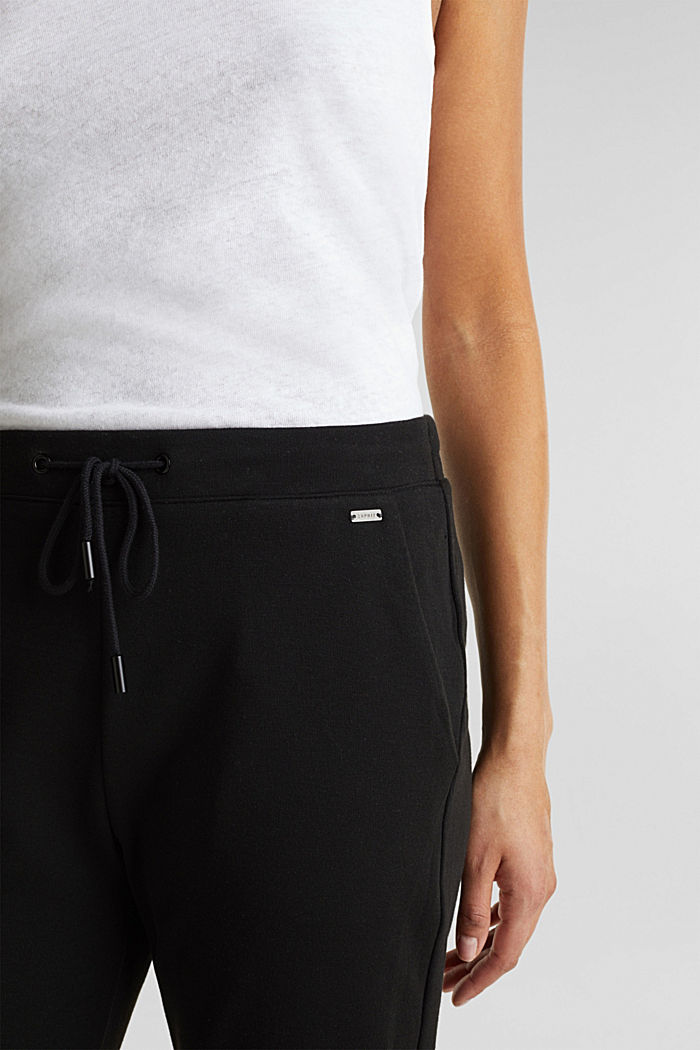 Jogger-Pants aus Jersey-Stretch, BLACK, detail image number 1