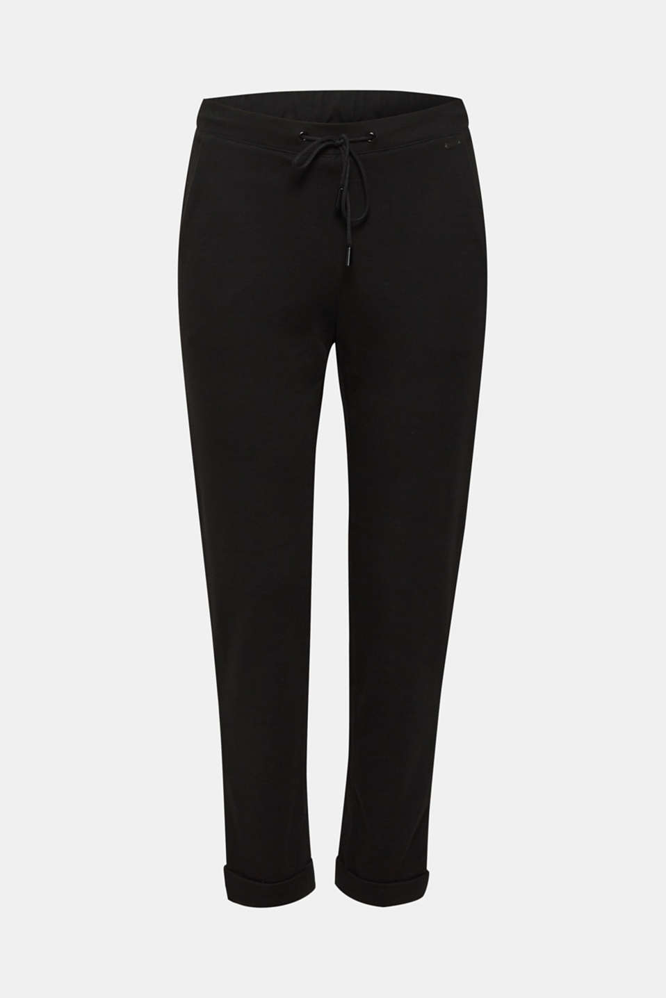 Tracksuit bottoms made of stretch jersey, BLACK, detail image number 4