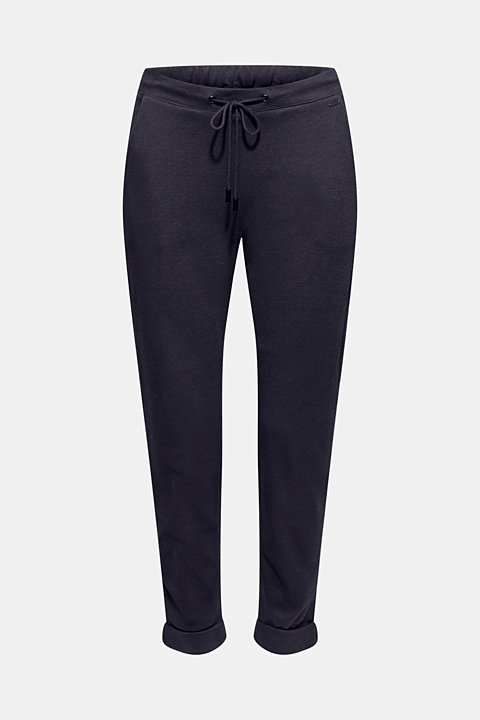 Tracksuit bottoms made of stretch jersey