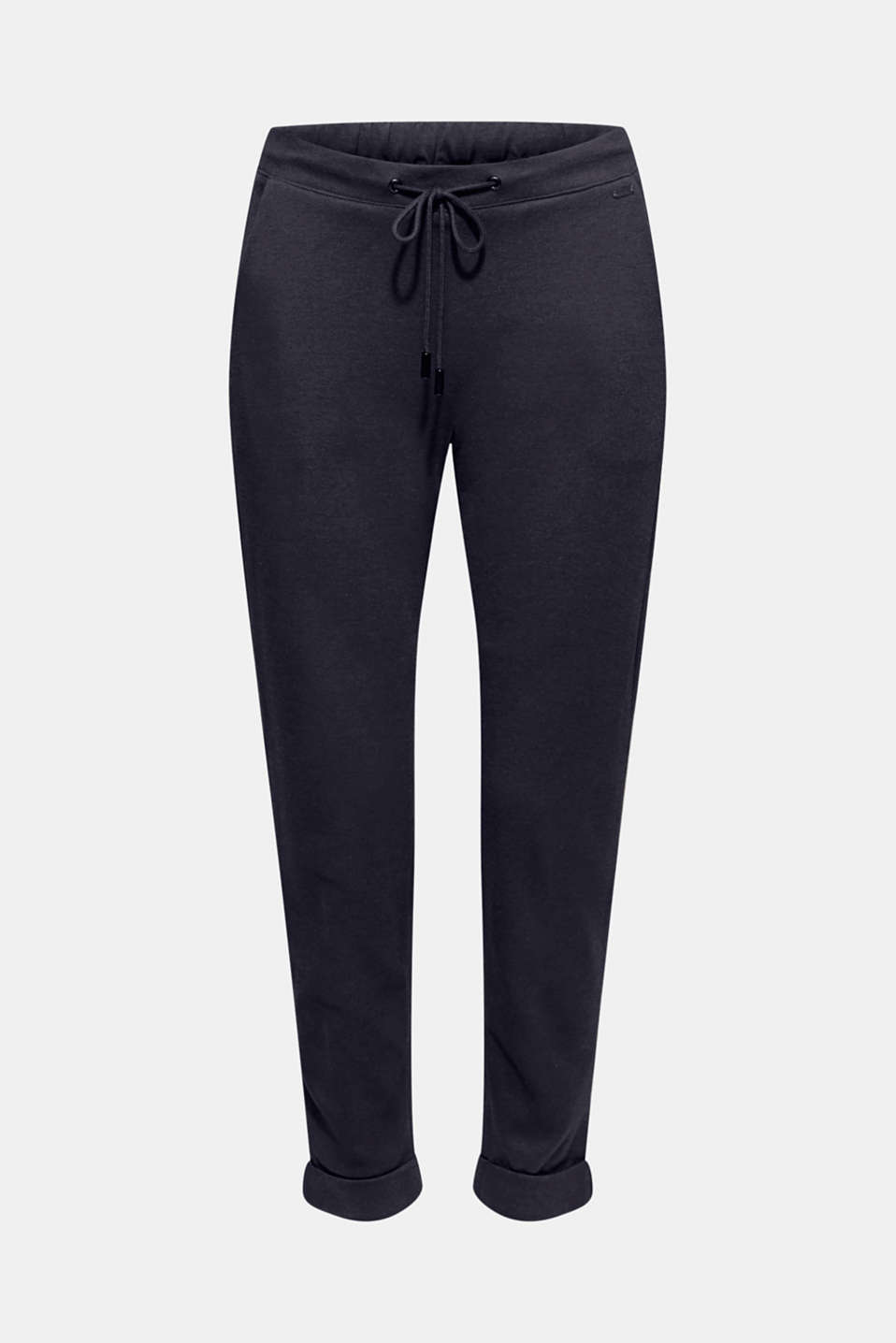Tracksuit bottoms made of stretch jersey, NAVY, detail image number 6