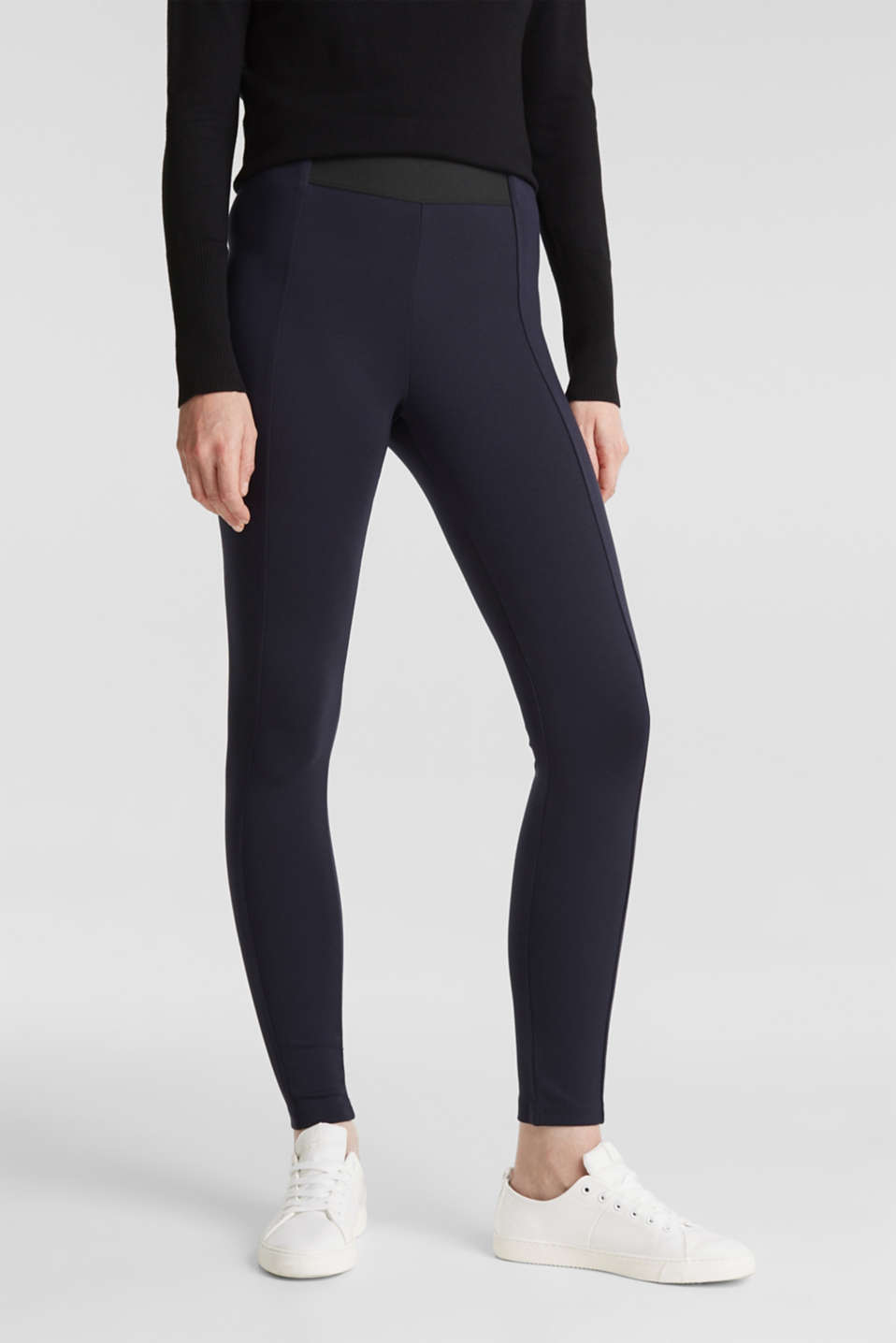 Esprit - Pantaloni stretch in jersey punto
