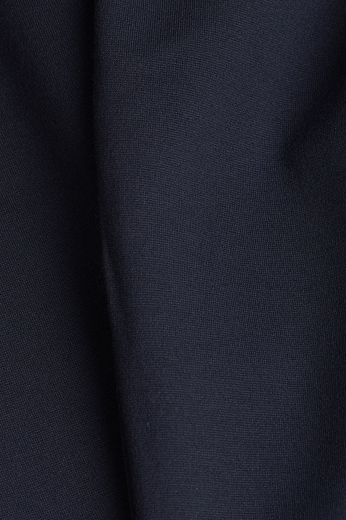 Stretch trousers made of punto jersey, NAVY, detail image number 4