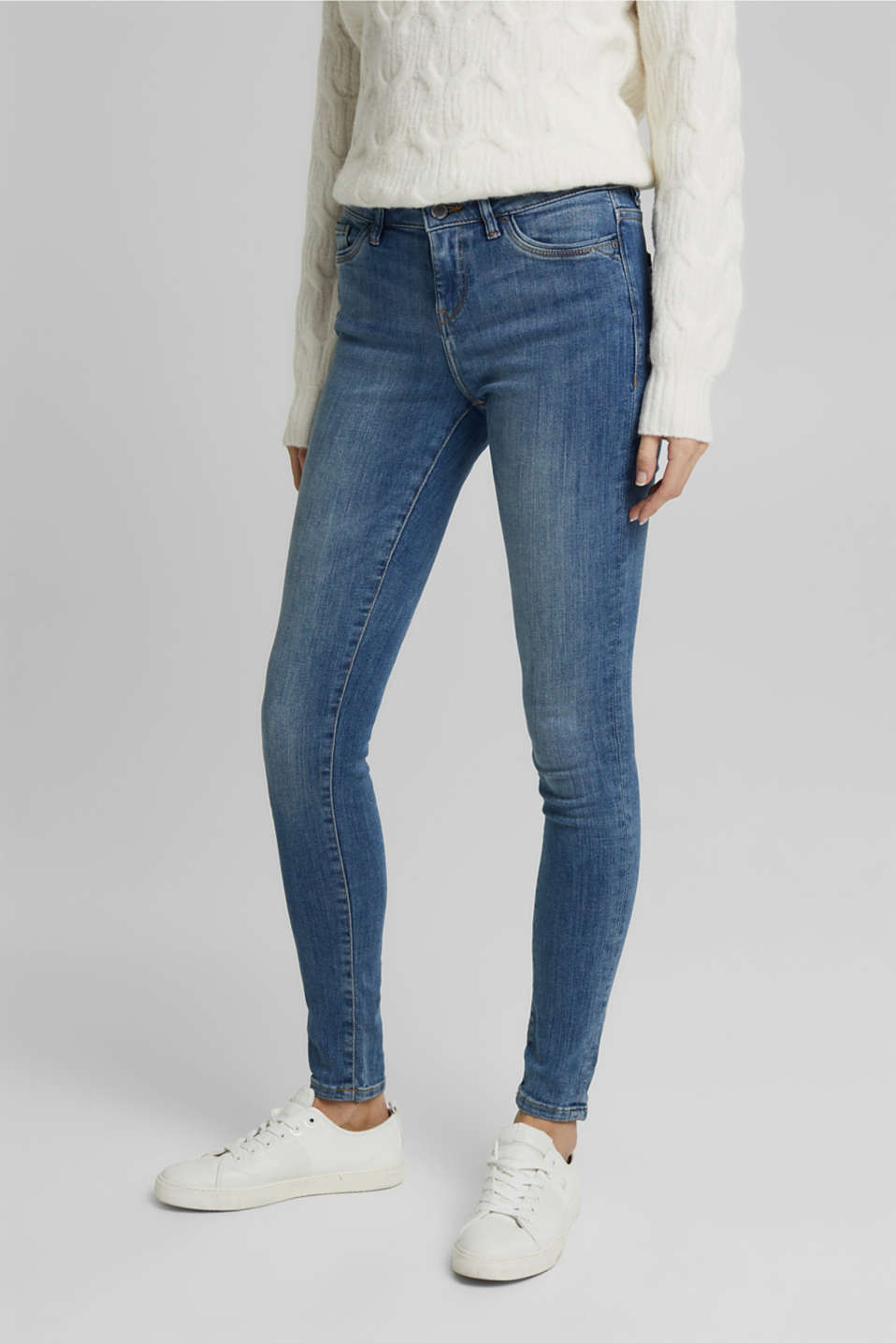 Esprit - Superstretch-Jeans mit Used-Effekten