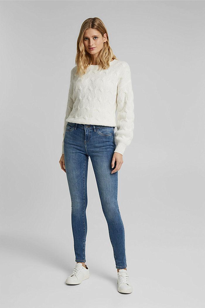 Superstretch-Jeans mit Used-Effekten, BLUE LIGHT WASHED, detail image number 5