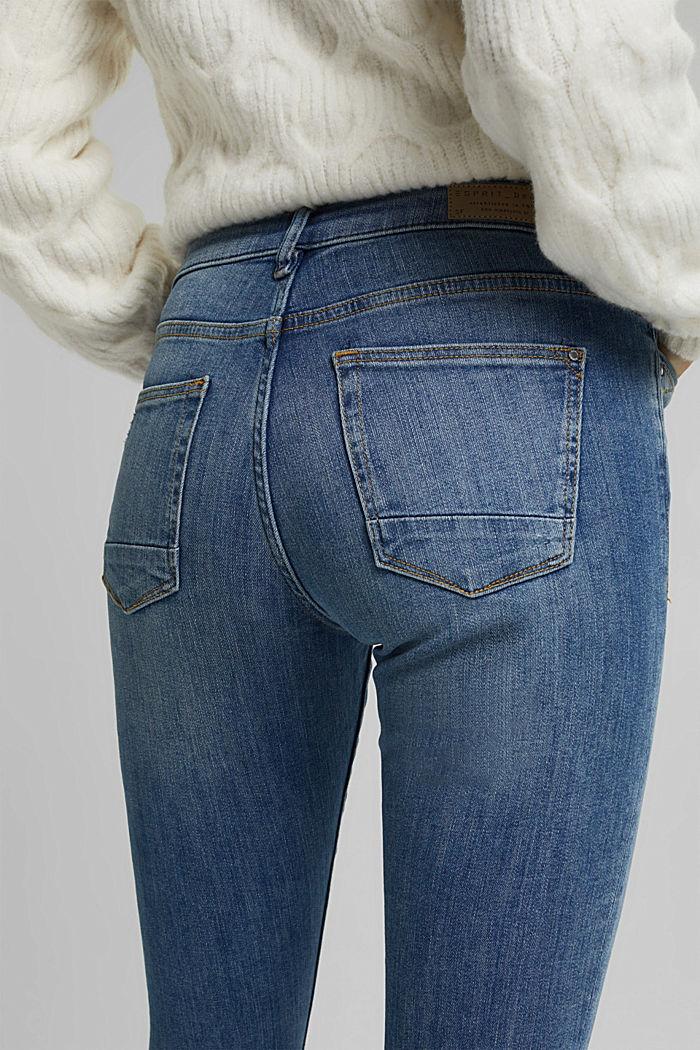 Superstretch-Jeans mit Used-Effekten, BLUE LIGHT WASHED, detail image number 4