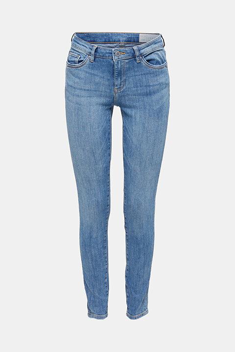 Superstretch-Jeans mit Used-Effekten