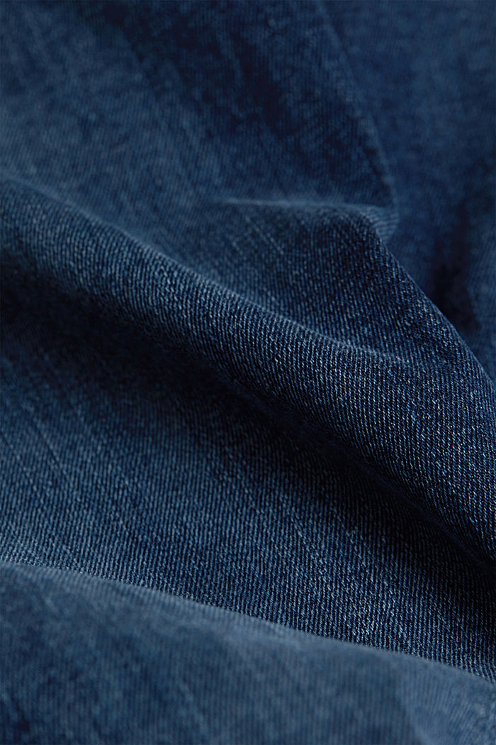 Shaping jeans with a high waistband, BLUE DARK WASHED, detail image number 4