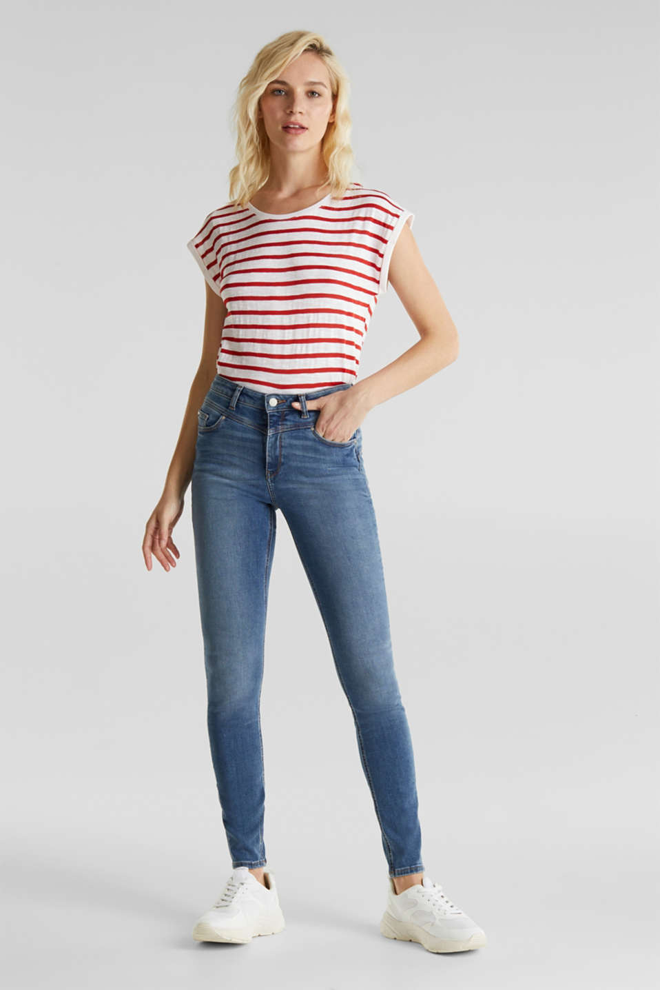 Esprit - Shaping jeans met hoge taille