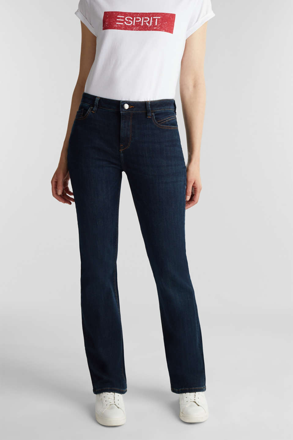 Esprit - Jeans basic in denim scuro