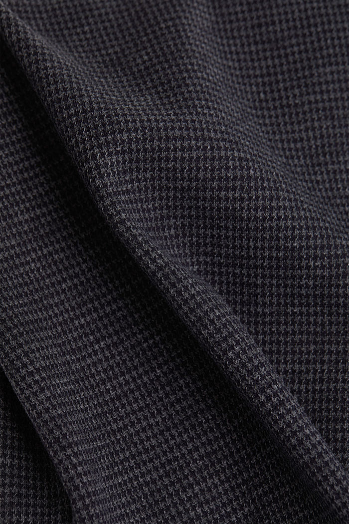 Jersey skirt with a herringbone pattern, GREY BLUE, detail image number 4