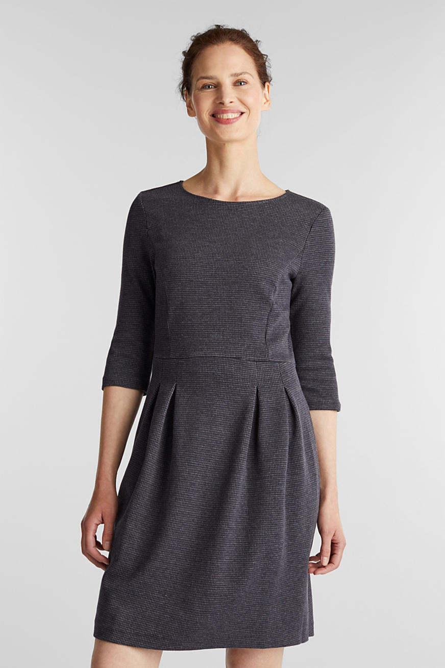 Stretch jersey dress with a jacquard pattern