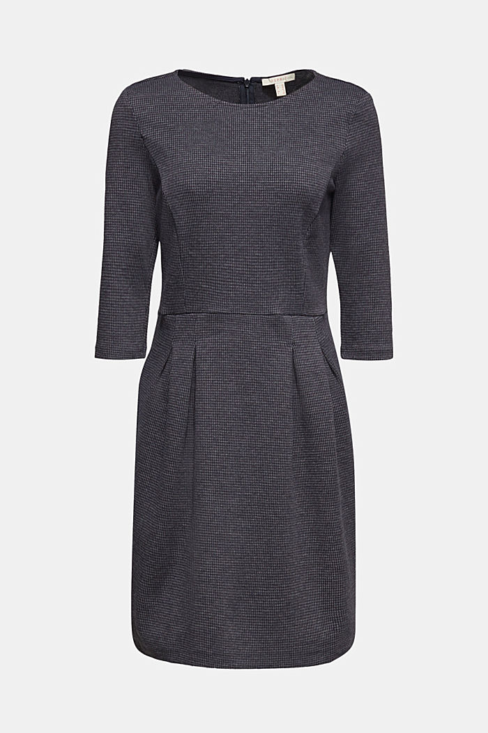 Stretch jersey dress with a jacquard pattern, GREY BLUE, detail image number 5