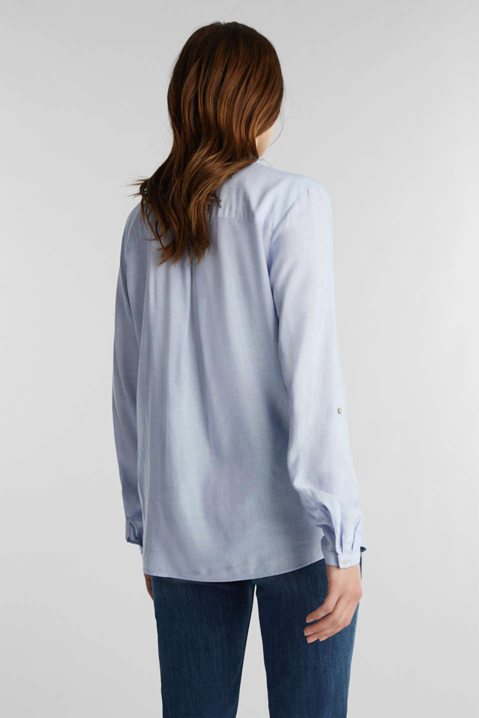 Blouse with Henley neckline, LIGHT BLUE, detail image number 3