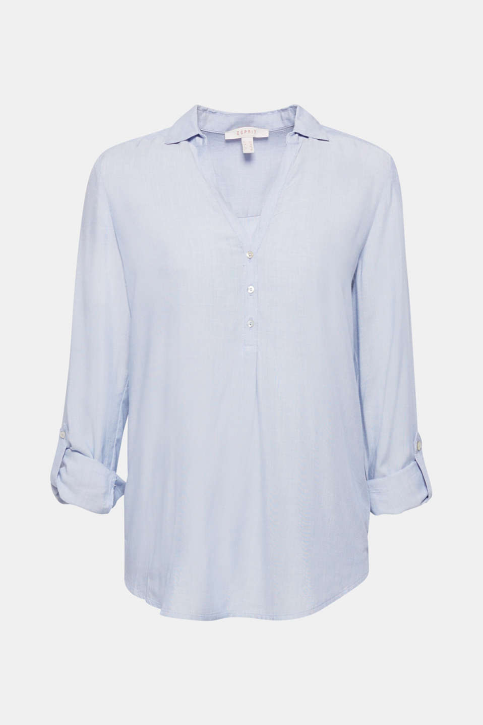 Blouse with Henley neckline, LIGHT BLUE, detail image number 6