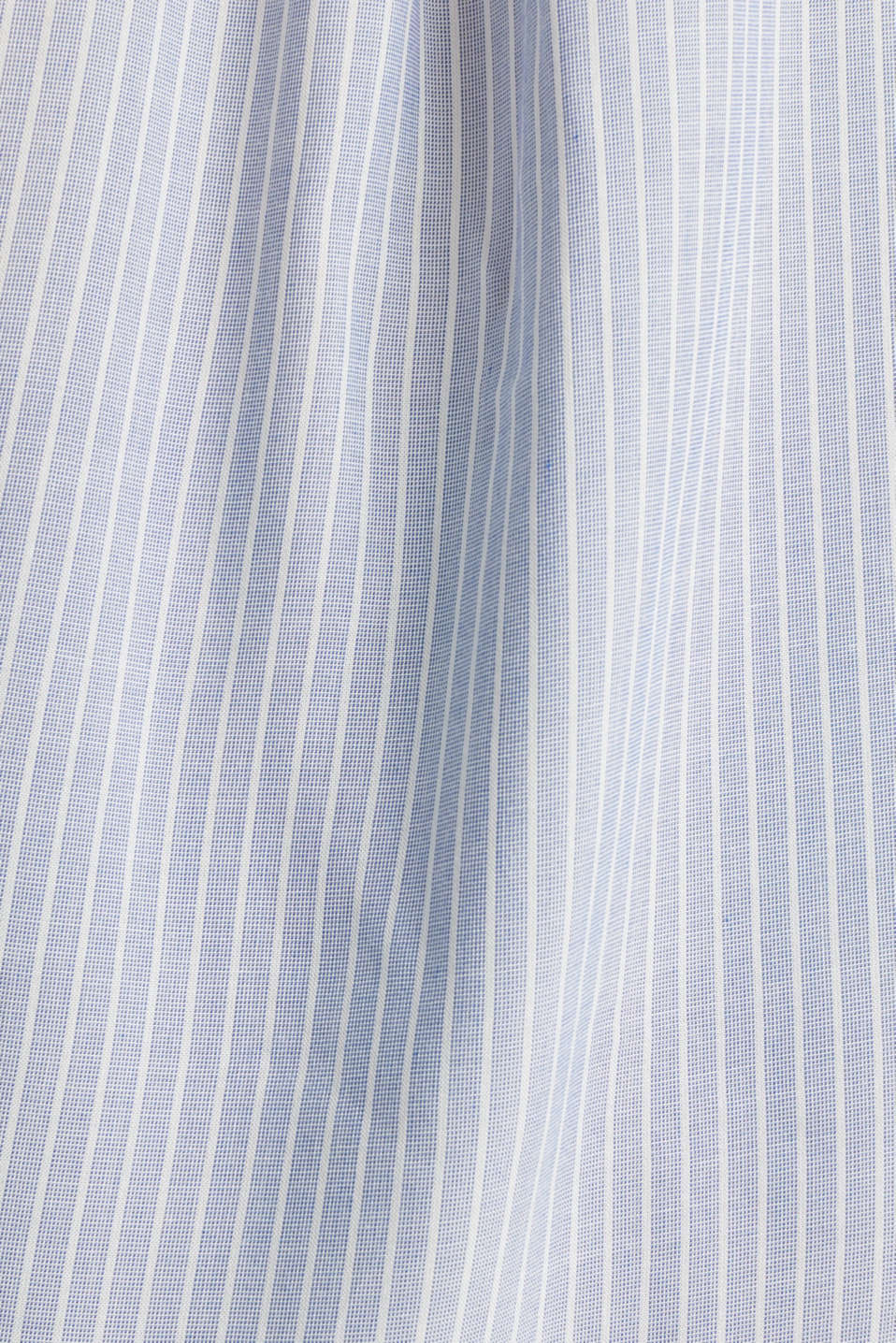 Shirt blouse with stripes and turn-up sleeves, PASTEL BLUE, detail image number 4