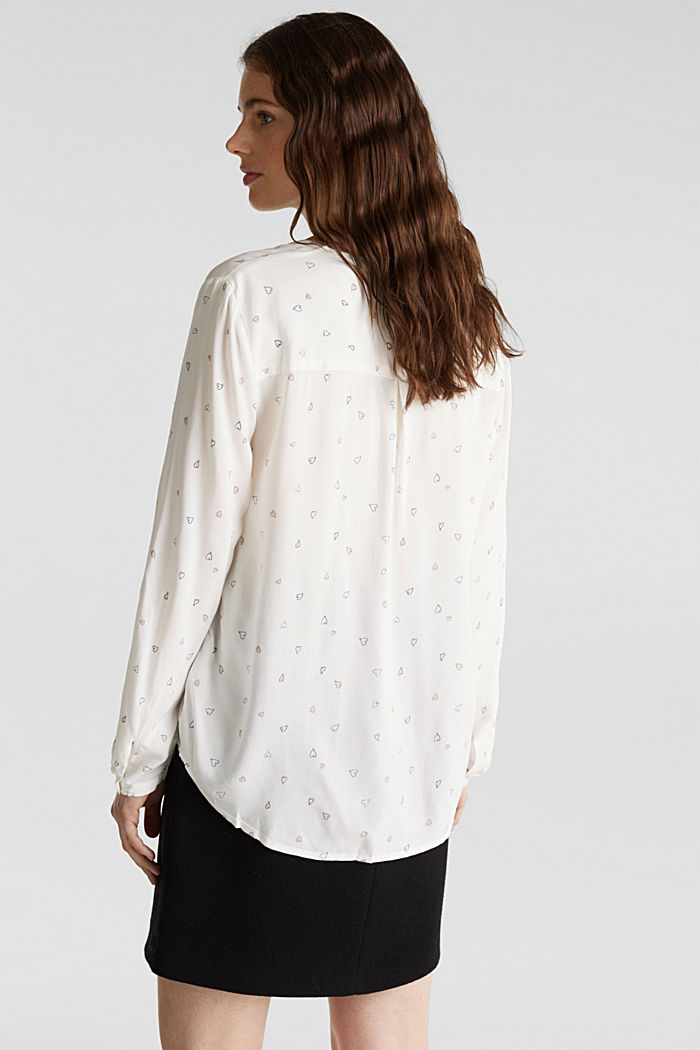 Henley blouse with a print, OFF WHITE, detail image number 2