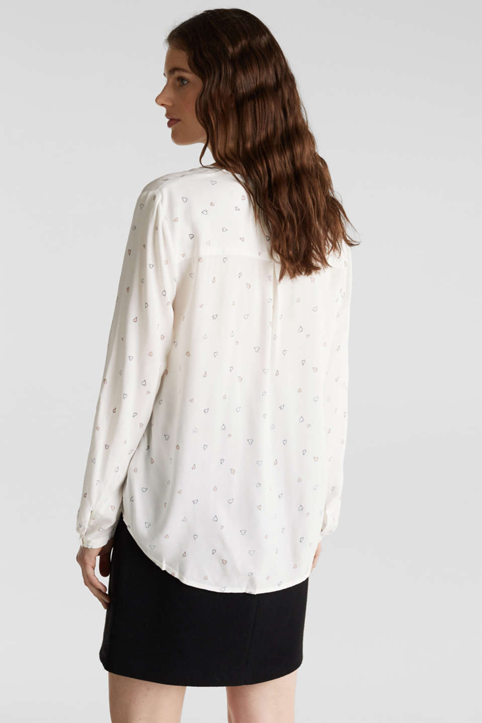 Henley blouse with an all-over print, OFF WHITE, detail image number 2
