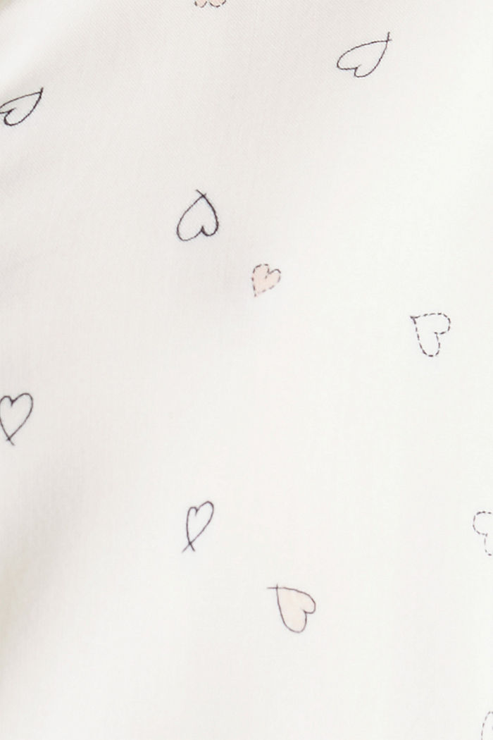 Blusa henley con estampado, OFF WHITE, detail image number 3