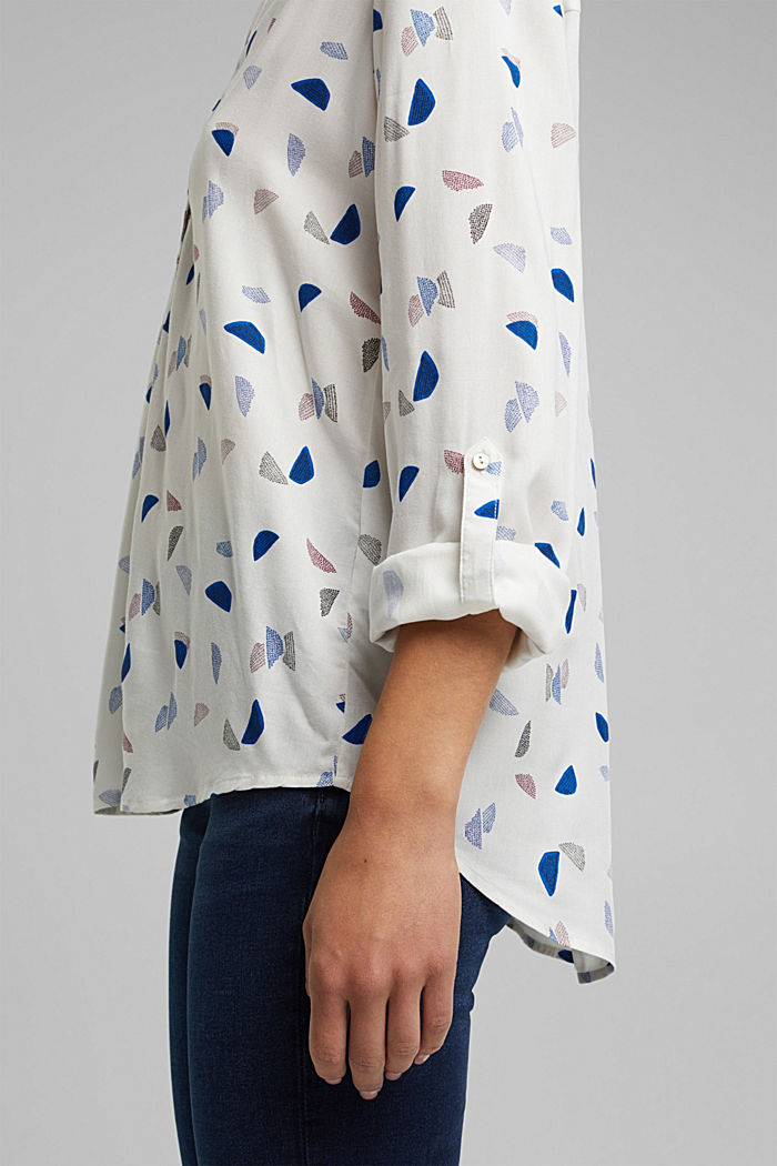 Henley blouse with a print, NEW OFF WHITE, detail image number 5