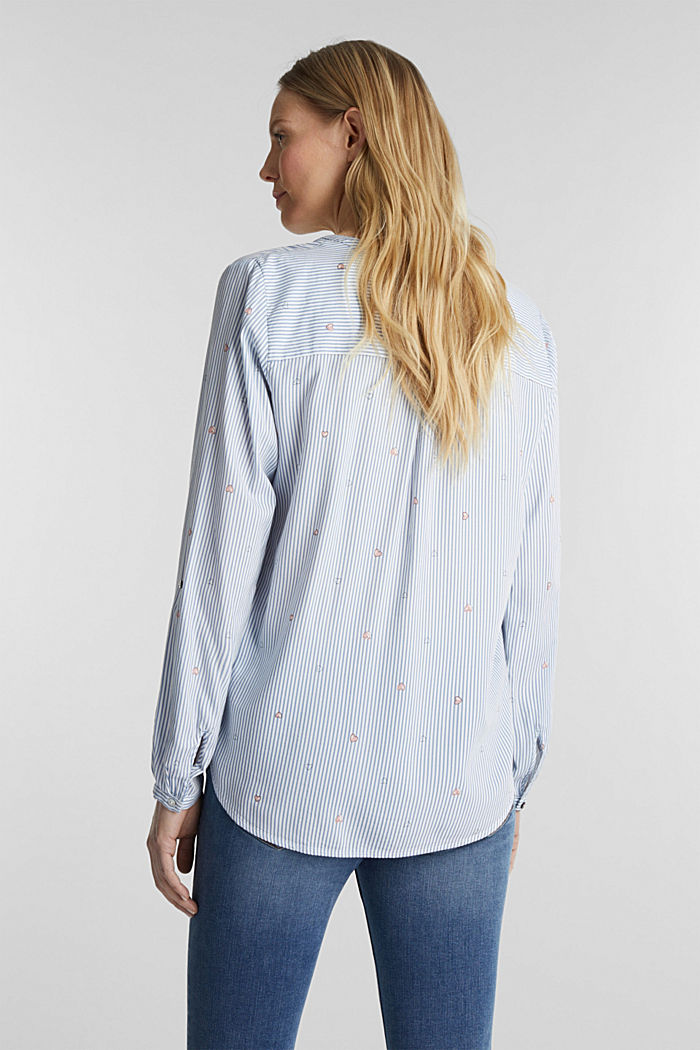 Henley-Bluse mit Print, LIGHT BLUE, detail image number 3