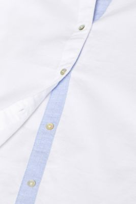 Shirt blouse made of 100% cotton, WHITE, detail